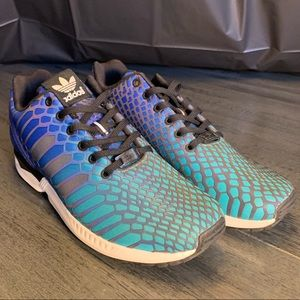 Adidas Zx Flux Xeno 3M Shock Green/Blue  SZ 10.5